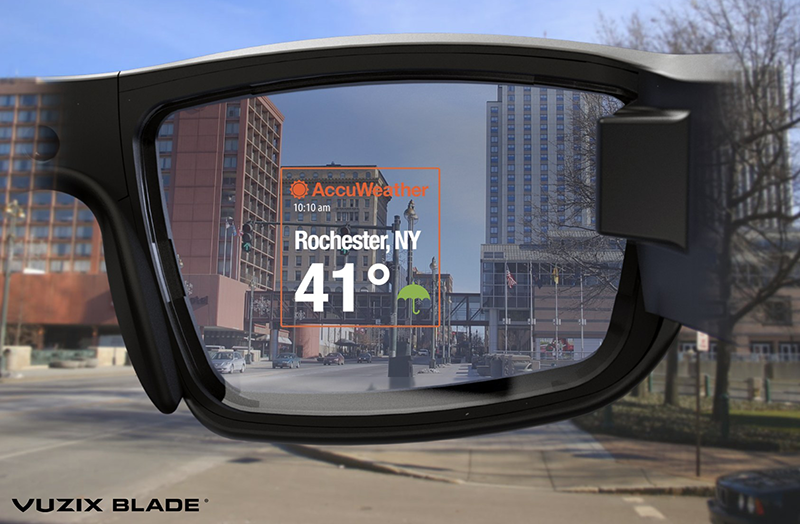 Augmented Weather on Vuzix Smart Glasses