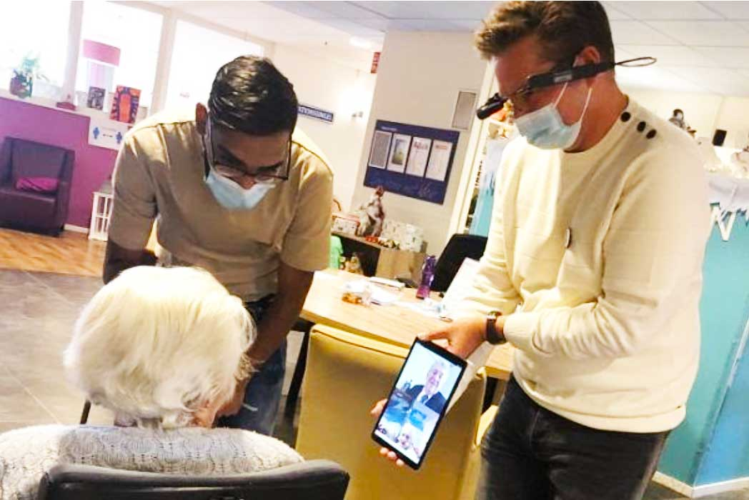 Mayor's Nursing Home Visit Powered by Vuzix Smart Glasses