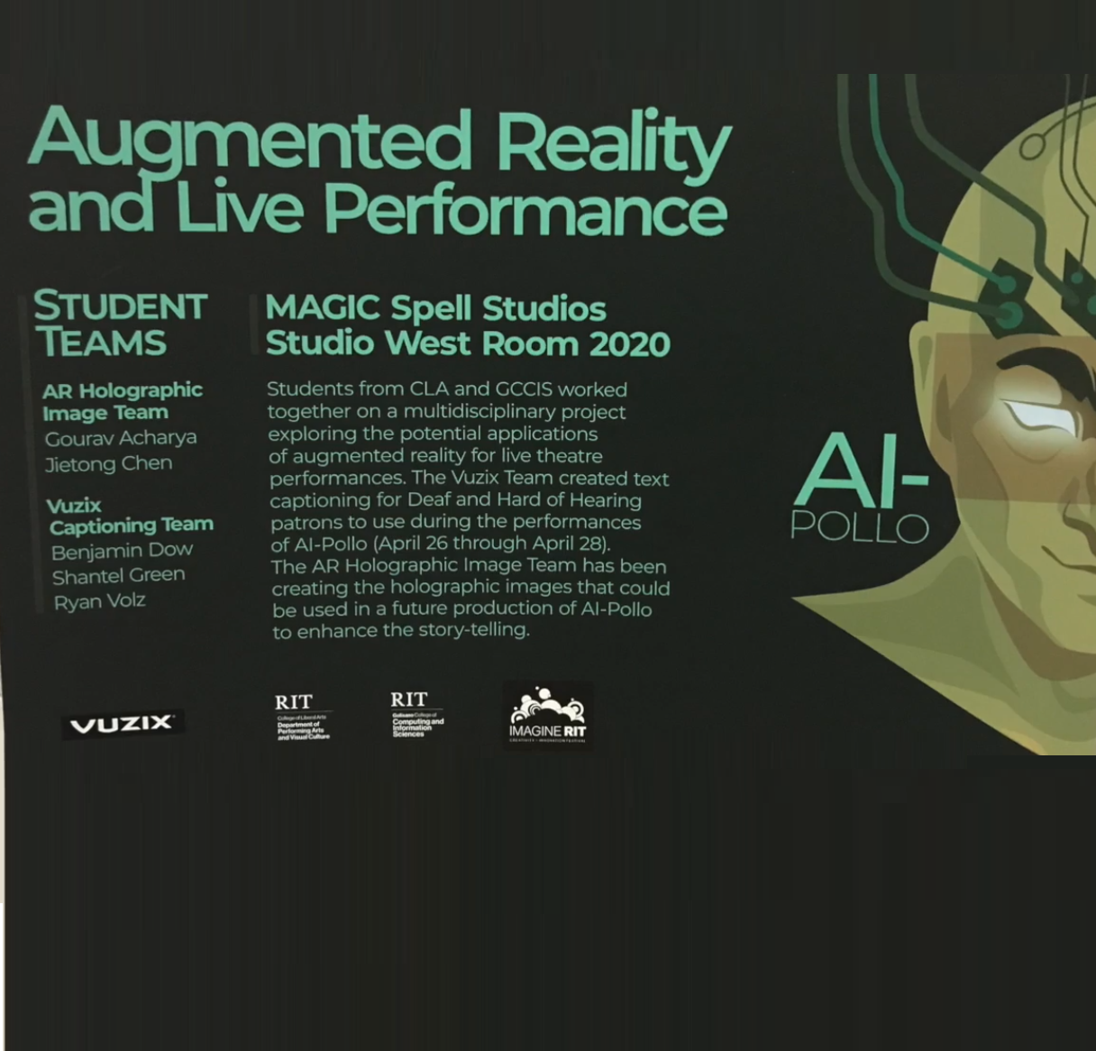 AR Smart Glasses for Live Theater