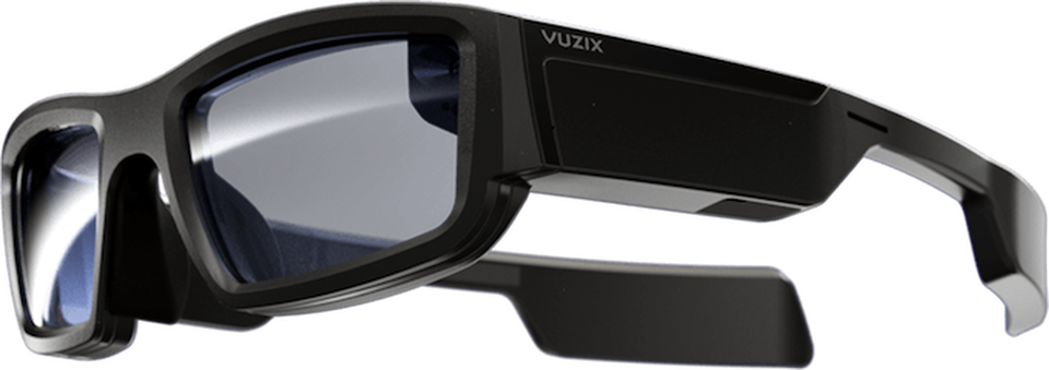 One of the sleekest and most in-demand products should be the Vuzix Blade AR glasses, which allow for hands-free AR overlays on transparent lenses.