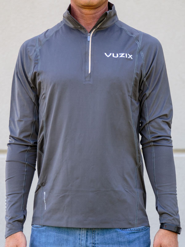 Vuzix Long Sleeve ¼ Zip Performance Shirt, Grey
